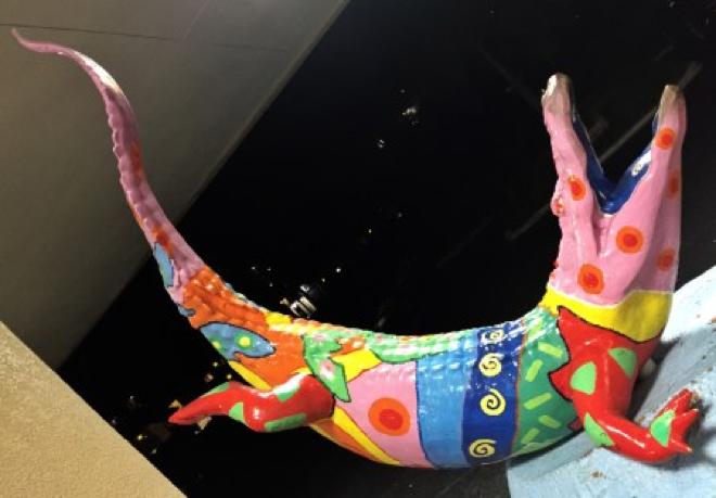Florida-Aligator Skulptur