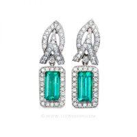 Colombian Emerald Earrings, Emerald cut Emerald Earrings ...
