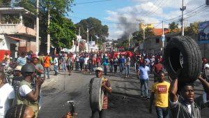 Haïti-Protestation : L'opposition politique dans les rues pour exiger la démission du président Jovenel Moïse