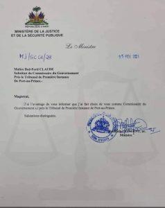Haïti-Politique :  Changement au sein de l'appareil judiciaire haïtien