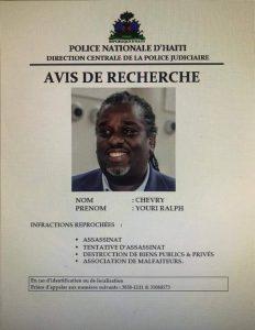 Haïti-Politique : Ralph Youry Chévry dans le viseur de la DCPJ