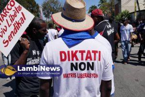 """Pétion-Ville : Tirs nourris d'individus armés à Morne Lazarre pour disperser la marche contre la """"Dictature"""""""