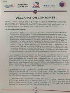 Haïti-Crise : 5 structures politiques signent une déclaration conjointe pour un dialogue inclusif