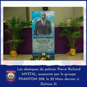 Haïti-Nécrologie : Dernier hommage rendu ce samedi au policier Pierre-Richard Mystal