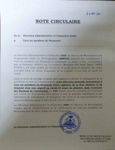 Haïti-Covid-19 : Fils-Aimé Ignace Saint Fleur, Directeur Général du BMPAD, testé positif