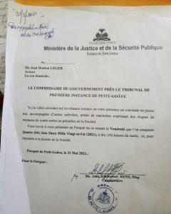 Petit-Goâve-Référendum : Me Jean Danton Léger invité au Parquet pour ses menaces contre les bureaux de vote