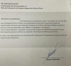 Enquête sur l'assassinat du président : Dimitri Hérard placé en isolement après son audition à l'IG-PNH
