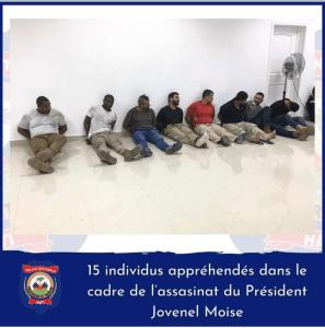 Haïti-sécurité : 15 Colombiens et 2 Haïtiano-américains arrêtés dans l'assassinat du président Jovenel Moïse