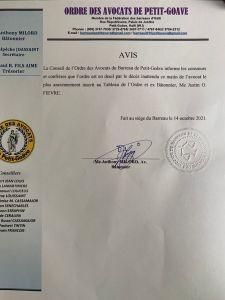 Haïti-Nécrologie : Décès de Me Justin Fièvre, ex-Bâtonnier de l'Ordre des avocats de Petit-Goâve