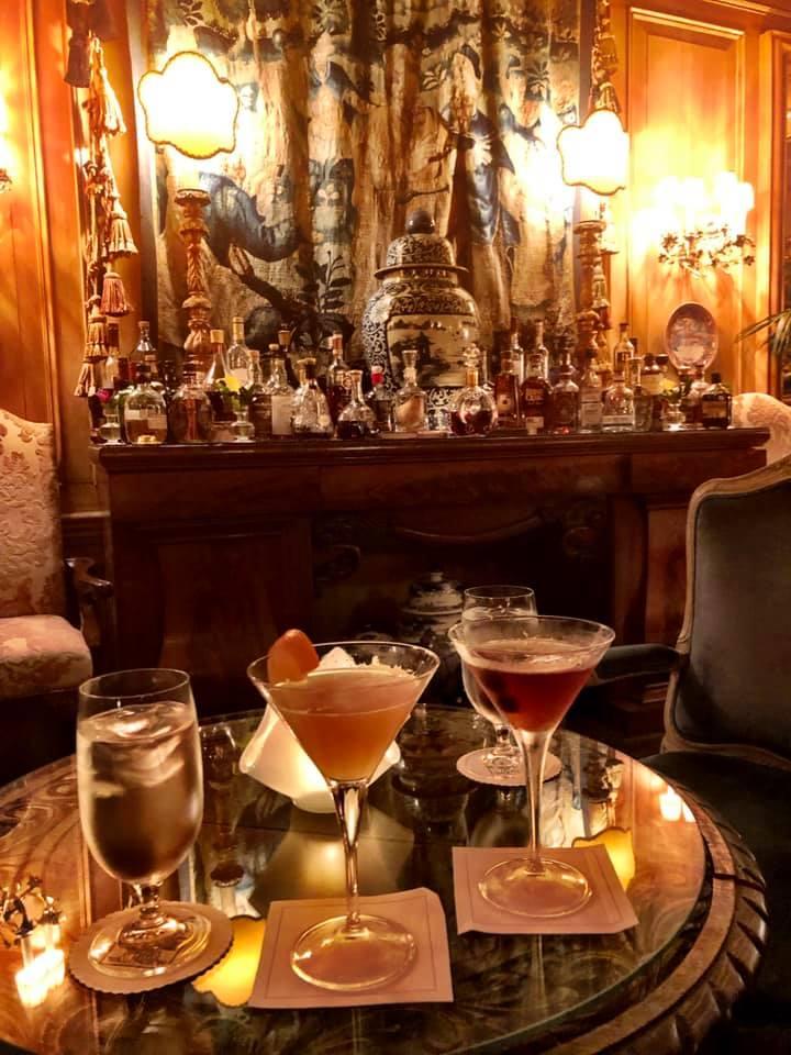 drinks at the Inn at Little Washington