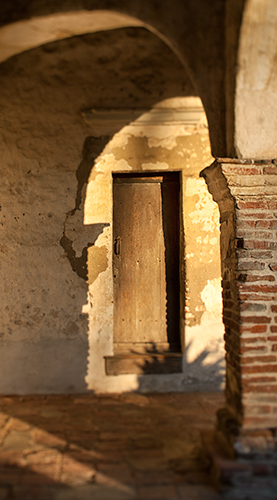 Door at Mission San Juan Capistrano