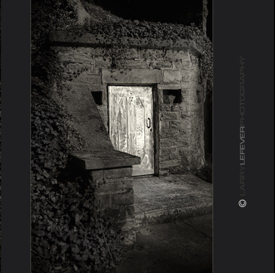 Steel mausoleum door