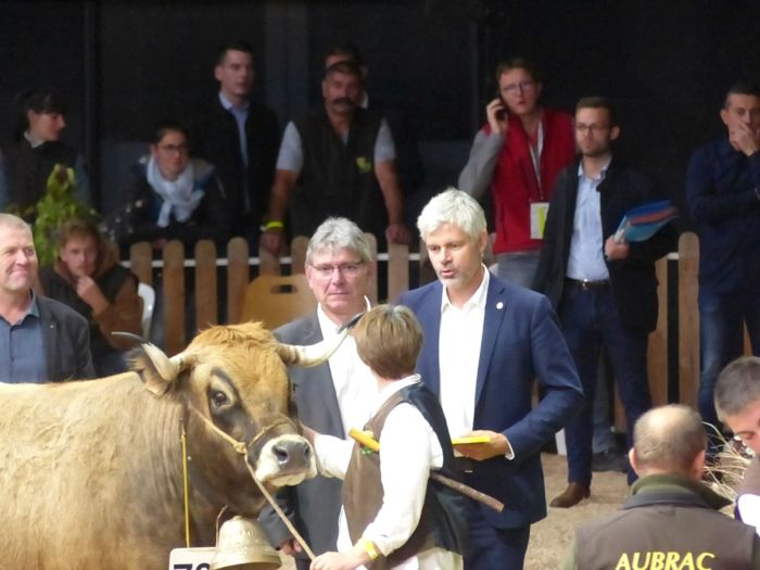 Laurent Wauquiez présent au Sommet de l'élevage. Photo : Morgane Briens