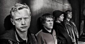 Norsk Råkk er med på hyllestplata til Michael Krohn. Lengst til venstre Axel Gjerstad Hjelme og Thorstein Eriksen (Foto: Norsk Råkk)