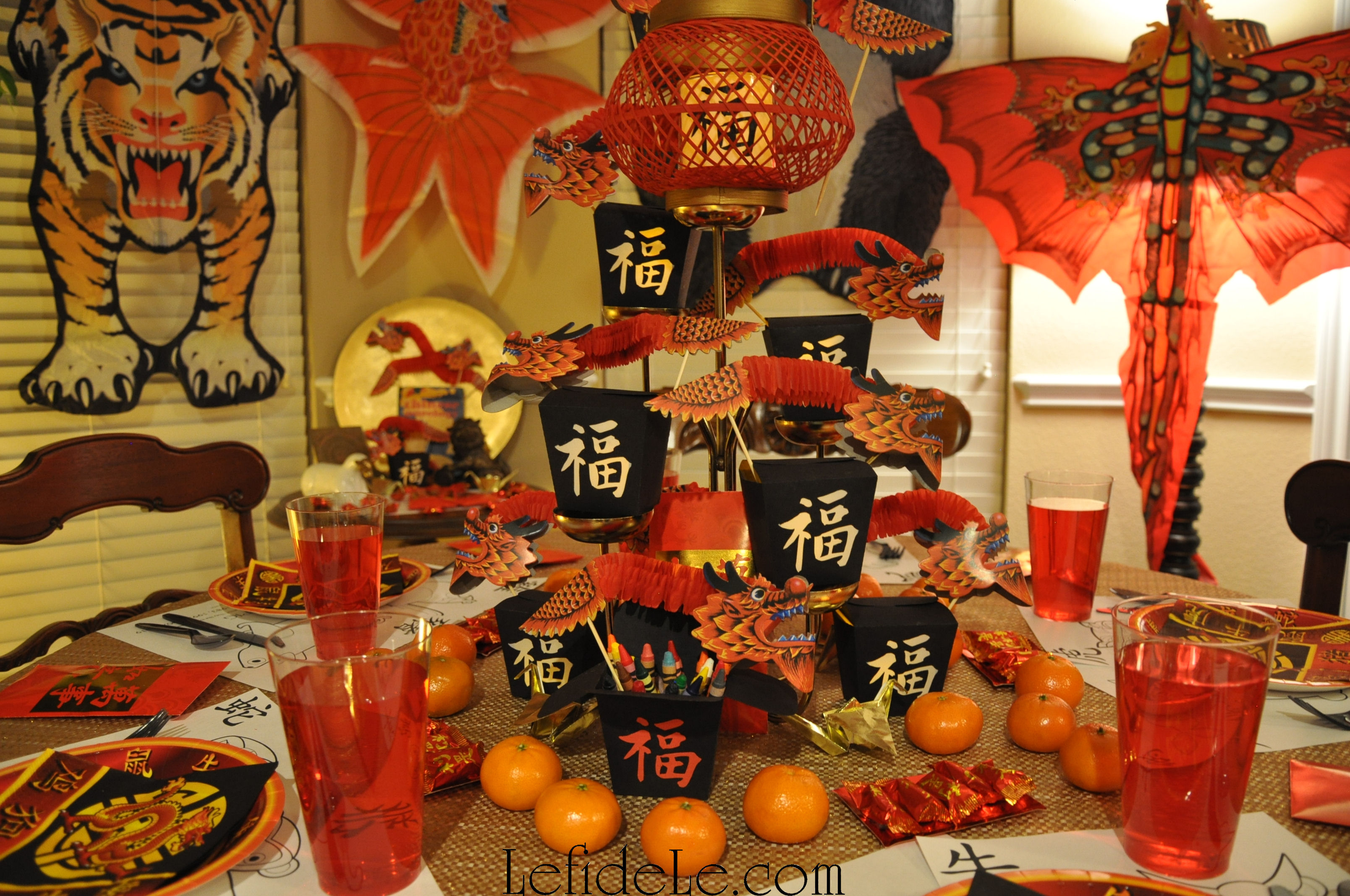 Chinese New Year Of The Sheep Ram Party Decor Ideas With Formal Table Setting Amp Kid S Table