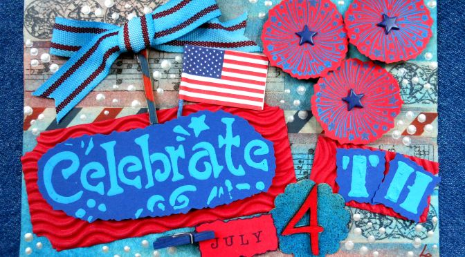July 4th Altered Art Greeting Card as Mailable Mixed Media Independence Day Décor (DIY Collage Art Tutorial)