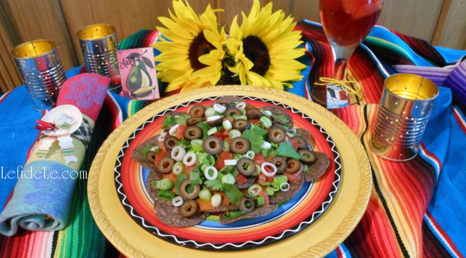"""Nacho Average Fiesta Dip"" & Spicy Nachos Compuesto (Dairy, Corn, Red Pepper, & Gluten-Free) Easy Appetizer for Cinco de Mayo Fiesta"