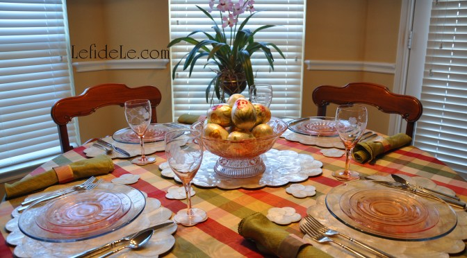 Elegant Capiz Shell Easter Egg Tablescape Décor Ideas (for the Adult's Table)