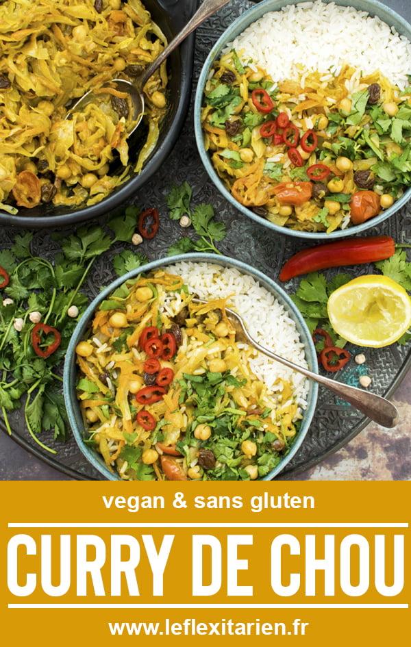 Curry de chou [végétalien] [sans gluten] 2020 © Annabelle Randles | Le Flexitarien | The Flexitarian