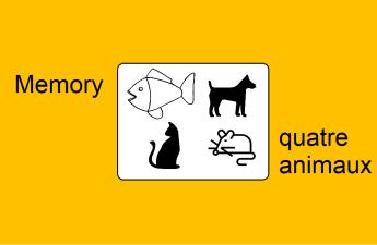 jeux Français illustré memory animaux