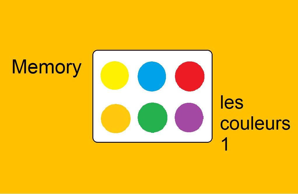 Memory – les couleurs 1