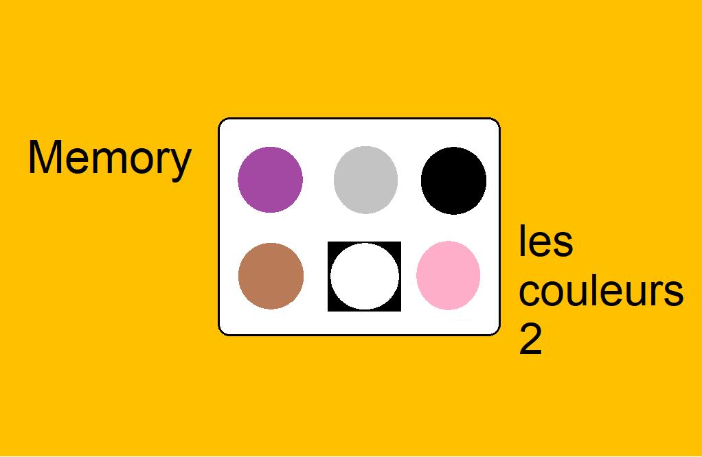 Memory – les couleurs 2