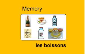 Memory – les boissons