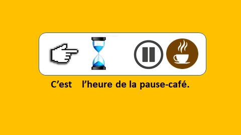 La pause-café  – vidéo 153