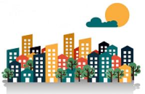 une ville et ses immeubles