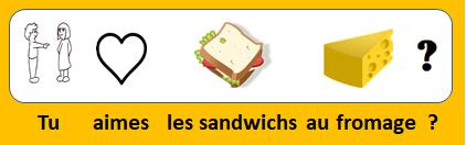 Tu aimes les sandwichs au fromage ?