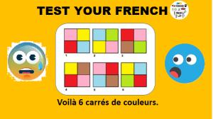 6 carrés de couleurs