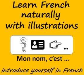learn French naturally with illustrations - introduce yourself