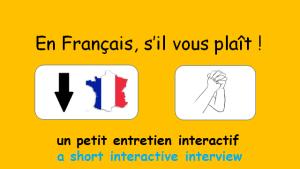 En français, s'il vous plaît !
