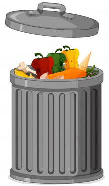 une poubelle