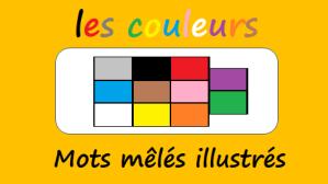 Les couleurs – Mots mêlés illustrés