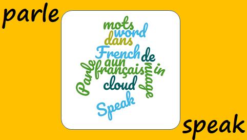 Parle dans un nuage de mots