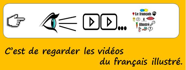 C'est de regarder les vidéos du français illustré.
