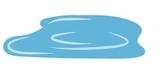 une flaque d'eau