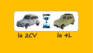 Deux voitures françaises