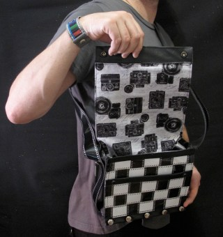 Woven 35 mm Film Camera Bag (Camera Print Lining)