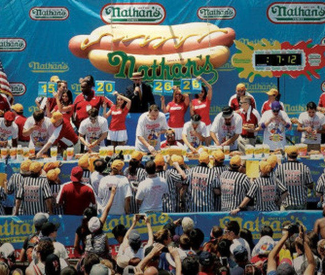 A Judges Eye View Of Nathans Hot Dog Eating Contest
