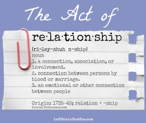 The Act of Relationship
