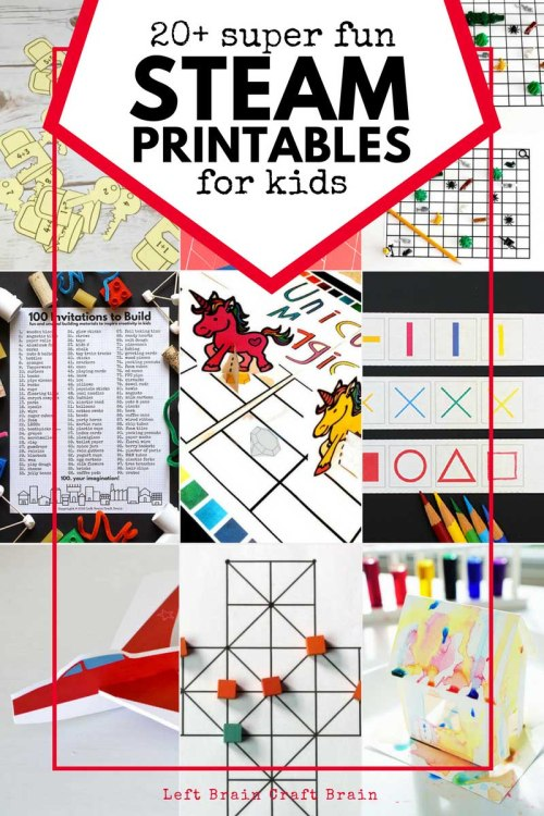 small resolution of STEAM Printable Activities for Kids - Left Brain Craft Brain