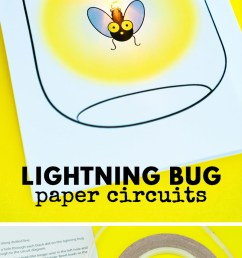 this glowing lightning bug paper circuit card is a perfect project for stem and steam learning [ 800 x 2000 Pixel ]