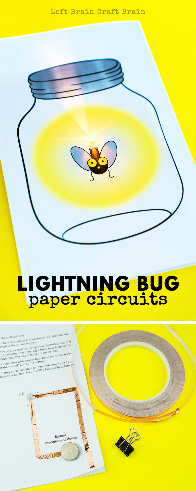 medium resolution of this glowing lightning bug paper circuit card is a perfect project for stem and steam learning