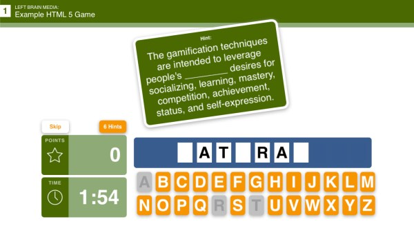 eLearning Game Example preview