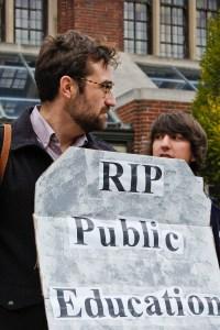 RIP Public Education - photo by Sasha Kimel