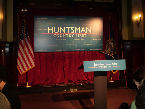 Jon Huntsman Results Party - photo by WEBN-TV
