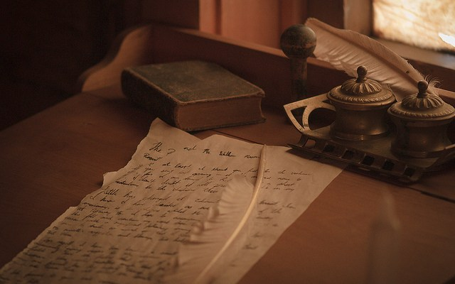 Quill Pen and Letter - photo by stormwarning photography