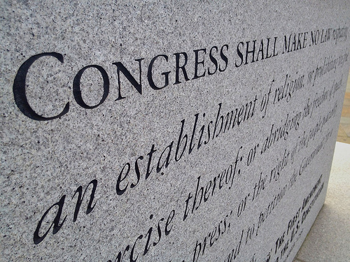 First Amendment - photo by Kyle Dickson